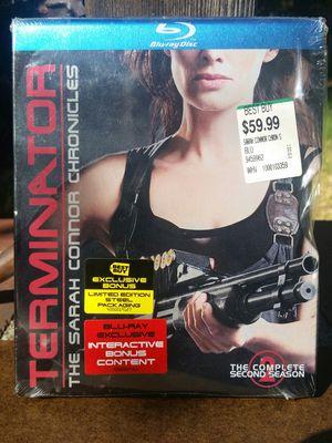 Terminator The Sarah Connor Chronicles Season 2 Blu-ray Steelbook Steel Metal Slipcover Best Buy Exclusive for Sale in San Fernando, CA