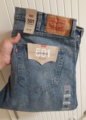 Levi's Original 501 Button Fly Blue Acid Wash Jeans for Sale in Chula Vista, CA