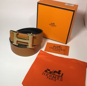 Hermes Authentic Reversible Brown n Black H Buckle Leather Belt for Sale in Queens, NY