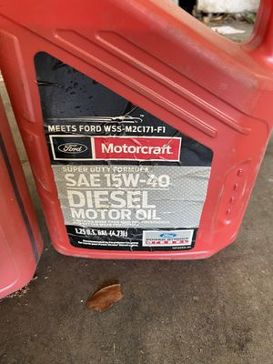 3 gallons oild ford diesel for Sale in Suisun City, CA