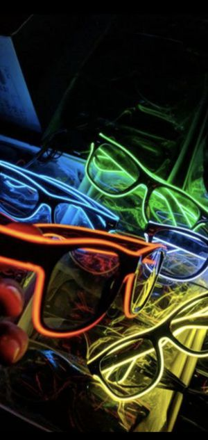 📣 Holiday/party Neon light 🚨 Glasses 🤙 for Sale in Fresno, CA