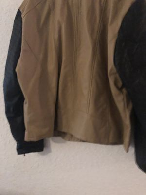 Plus size faux leather moto jacket for Sale in Kissimmee, FL