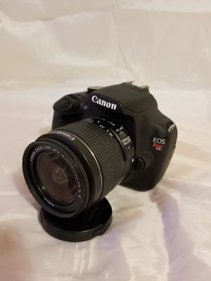 Canon Eos Rebel T5 camera with 18-55 and 75-300 canon lenses, lens filters, battery and charger and flash for Sale in Glendale, CA