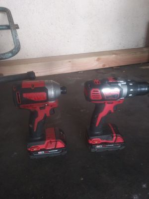 Milwaukee set, Drill and Impact 2 batteries. no charger for Sale in West Hollywood, CA