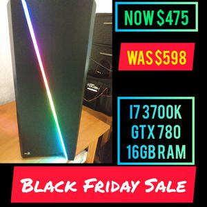 Black Friday Sale Newly Built Gaming/ Streaming Pc /i7 3770k /Gtx 780 /16gb ram for Sale in Tampa, FL