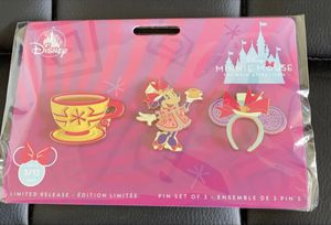 Disney's Minnie March Main Attraction Mad Tea Party Pins for Sale in Inglewood, CA