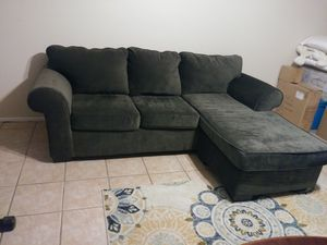 Price reduced! Negotiable! Gray couch with chaise! for Sale in Palm Harbor, FL