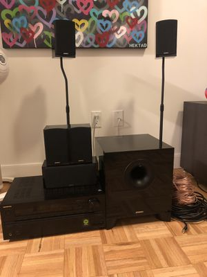 Energy Take Classic 5.1 surround sound system with a Onkyo 7.2 receiver for Sale in New York, NY