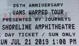 Warped tour tickets- Saturday and Sunday for Sale in Modesto, CA