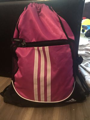 Pink and black Adidas drawstring bag backpack with zipper pocket for Sale in Los Angeles, CA