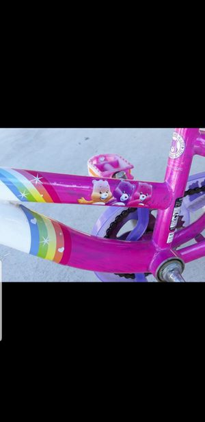14 inch Care Bear bike with training wheels for Sale in Los Angeles, CA