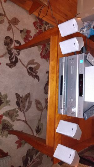 Sony surround sound five DVD CD changer five speakers two remotes for Sale in Galloway, OH