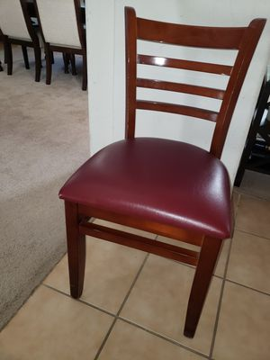 Ladder back chair with burgundy seat for Sale in Elk Grove, CA