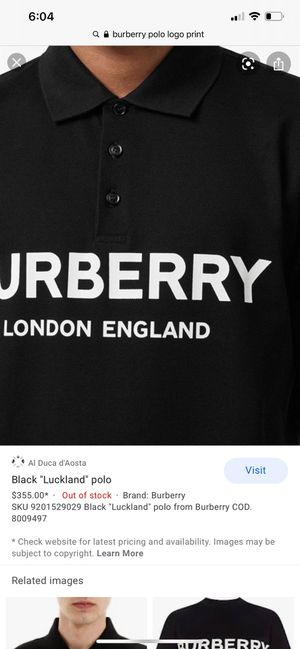 """BURBERRY """"Luckland"""" polo for Sale in Riverside, CA"""