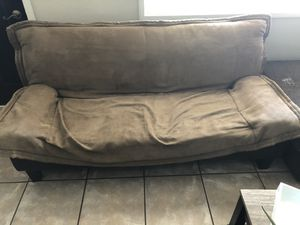 6ft leather futon for Sale in Tempe, AZ