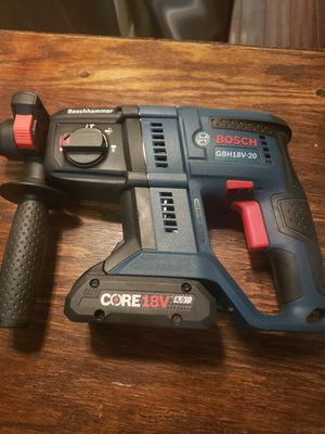 Bosch CORE18V 3/4-in SDS-Plus Cordless Rotary Hammer&Core18v 4-Amp Lithium Battery for Sale in Jurupa Valley, CA