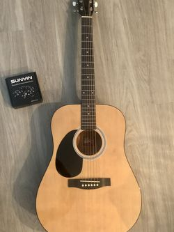 Rogue RG-624 Left-Handed Dreadnought Acoustic Guitar Natural for Sale in Collingswood,  NJ