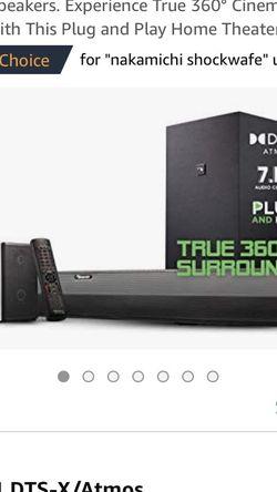NAKAMICHI SHOCKWAFE 7.1.4 SOUNDBAR SYSTEM for Sale in Phoenix,  AZ
