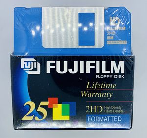 "FUJI Film Floppy Disk 3 1/2"" 25 Pack Brand New Sealed 2HD IBM High Density Computer Disc for Sale in Puyallup, WA"