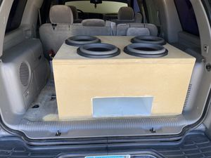"""4 American Bass HD 12""""s in super heavy ported box & Synergy 4.5 wfo .5 ohm stable rms 5000w 9800 max for Sale in Maricopa, AZ"""