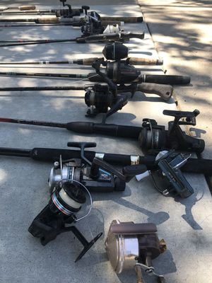 Fishing poles reels all for $100 sport sports outdoors for Sale in Ripon, CA