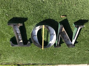 Giant metal wall letters for Sale in Torrance, CA