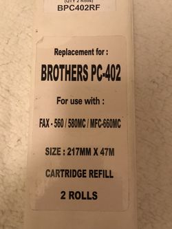 Brother PC-402 Cartridge Roll Compatible BPC402RF for Sale in Los Gatos,  CA
