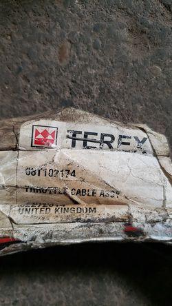 Terex backhoe throttle cable assy.# 08T102174 for Sale in La Porte,  IN