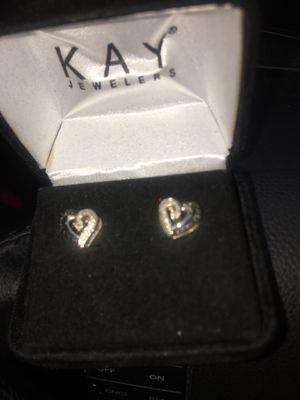Black diamond cut ear rings Kay Jeweler for Sale in Glendale, WI