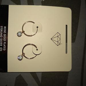 Rose gold hoop ear rings. for Sale in Arlington, TX
