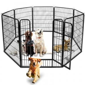 39 H Detachable Safety for Pet 8 Panel Dog Playpen Exercise Fence Kennel Crate for Sale in Wildomar, CA