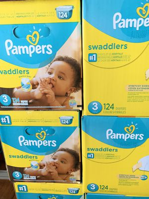 Pampers size 3 diapers new $25 each box for Sale in El Monte, CA