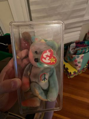1996 peace beanie babie with errors on hangtag , all blue back ! for Sale in Boston, MA