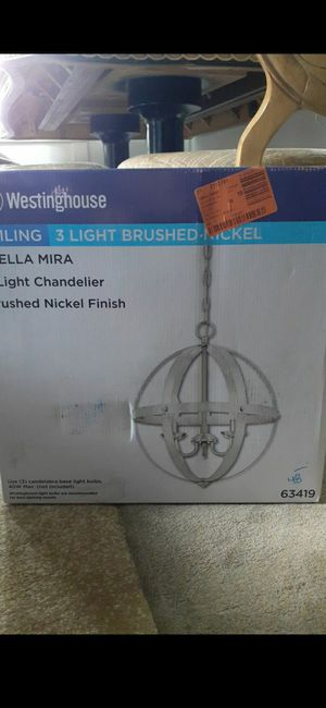 Westinghouse (3) Light Ceiling chandelier #63419 for Sale in Columbus, OH