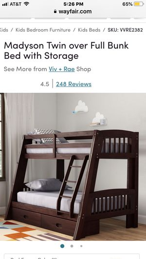 Bunk beds (Twin over Full) for Sale in Fresno, CA