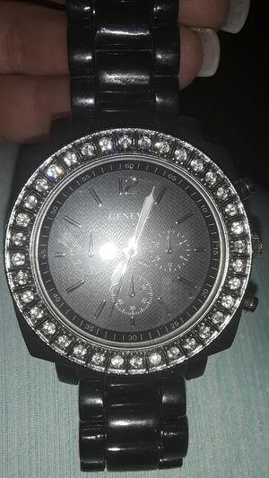 Geneva black and silver watch! for Sale in Mesa, AZ