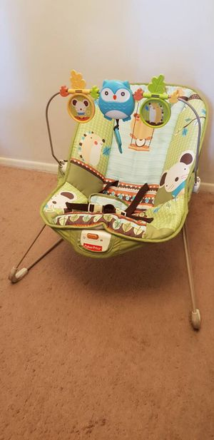 fisher-price vibrating green & brown baby bouncer for Sale in Rosemead, CA