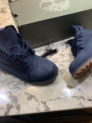 """Timberland Youth 6"""" in premium Navy Blue Boots size 2 for Sale in Washington, DC"""