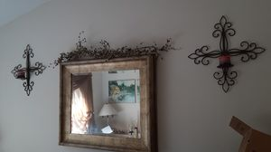 Two metal candle sconces for Sale in Deltona, FL