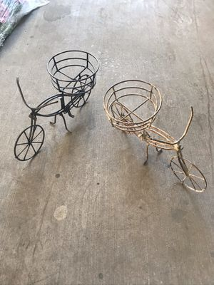 Beautiful Metal Flower Pot Bicycle Stand $29 ea for Sale in Cedar Park, TX