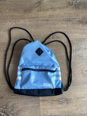 Blue and black Adidas string backpack. for Sale in South Miami, FL