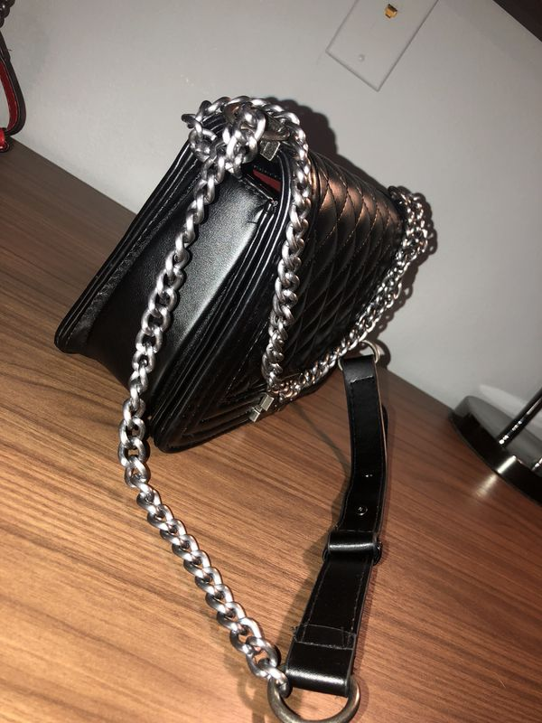 Quilted leather Chanel cross body boy bag