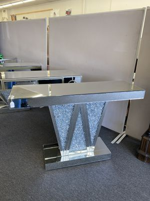 Crystal Glass Console Table $409 CASH ✨ for Sale in Houston, TX