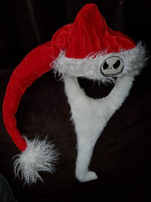 Nightmare Before Christmas Jack Skellington Santa Hat with beard for Sale in La Habra Heights, CA