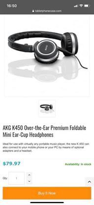 AKG K450 foldable headphone with the original case and accessories for Sale in San Jose, CA
