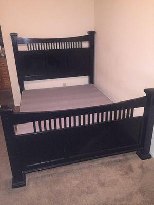 Queen bed frame , bottom mattress , dresser for Sale in Mobile, AL
