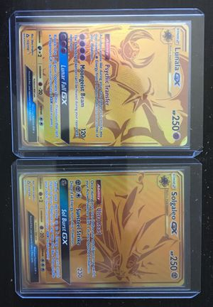 Pokemon Cards: Lunala GX & Solgaleo GX: Secret Rare for Sale in Fresno, CA