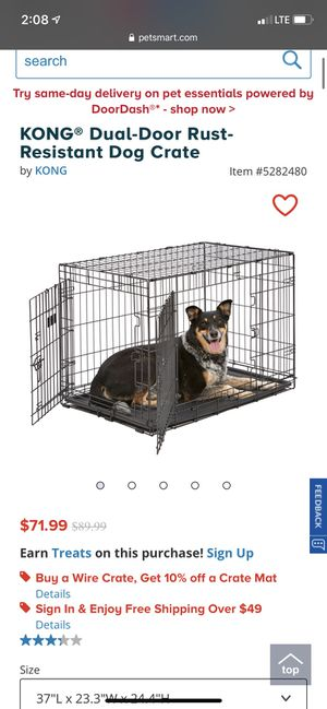 Kong dual door dog crate for Sale in Cleveland, OH
