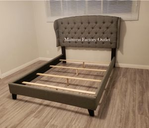 Beautiful Queen Bed Frame. Tufted adjustable headboard. Available in Full, Queen and king size. Frame only. for Sale in Bellflower, CA