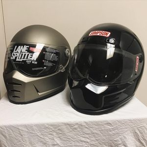 Simpson Biltwell Motorcycle Helmets for Sale in Ontario, CA